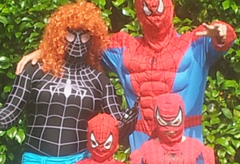 The Spider Family on the High Street